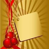 Bal do Natal três Imagem de Stock Royalty Free