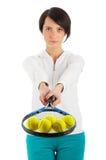 bal dziewczyny odosobneni kanta tenisa potomstwa Zdjęcie Stock