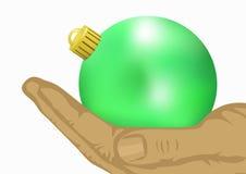 Bal in een hand Royalty-vrije Stock Afbeeldingen