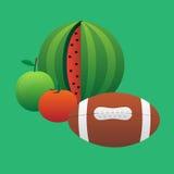 Bal en fruit Vector Illustratie