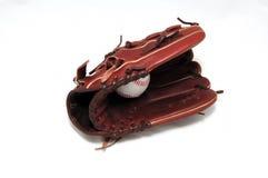 Bal en handschoen Stock Fotografie