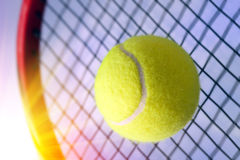 Bal en racket royalty-vrije stock fotografie
