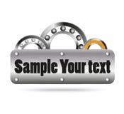 Bal en rollager met ruimte voor tekst Stock Afbeelding