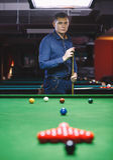 Bal en Snookerspeler stock foto's