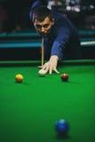 Bal en Snookerspeler royalty-vrije stock fotografie