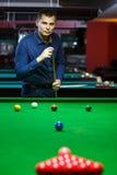 Bal en Snookerspeler royalty-vrije stock foto's