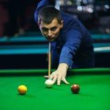 Bal en Snookerspeler royalty-vrije stock foto
