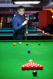 Bal en Snookerspeler stock foto