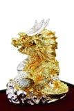 Bal för förmögenhetDargon hållande kristall Arkivbild