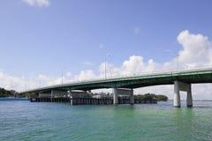 Bal- Harbourbrücke Miami FL Stockbild