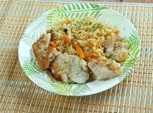 Balık plov. Fish pilaf.Azerbaijan cuisine Royalty Free Stock Image