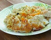 Balık plov. Fish pilaf.Azerbaijan cuisine Stock Images