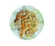 Balık plov. Fish pilaf.Azerbaijan cuisine Stock Photo