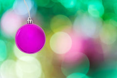Bal met abstract vaag licht bokeh Stock Foto