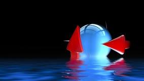 Bal met 3D pijlen - royalty-vrije illustratie