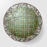 Bal met de textuur van stof en binnen gri Stock Foto