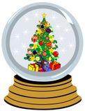 Bal met Kerstmisboom royalty-vrije illustratie
