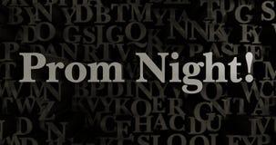 Bal noc! - 3D odpłacająca się kruszcowa typeset nagłówek ilustracja Zdjęcie Royalty Free
