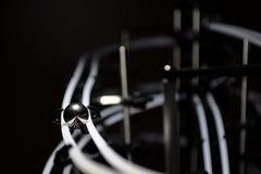Bal op sporen in dark Royalty-vrije Stock Afbeelding
