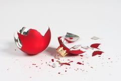 Bal quebrado do Natal Foto de Stock