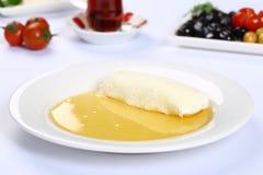 Bal turco Kaymak/crema del burro e del miele Immagine Stock