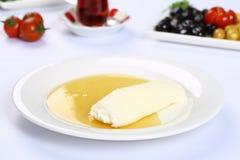 Bal turco Kaymak/crema del burro e del miele Fotografia Stock Libera da Diritti