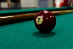 Bal 7 van de pool royalty-vrije stock afbeeldingen