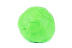Bal van groene bal van spel doh Stock Foto's