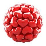 Bal van rode harten royalty-vrije illustratie