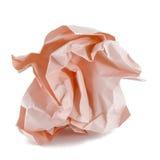 Bal van verfrommeld roze document Stock Afbeeldingen