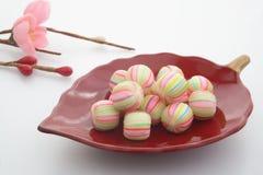 Bal-vormig Suikergoed, de Japanse snoepjes van Kyoto stock foto's