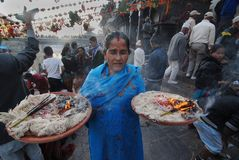 Bala Chaturdashi Festival in Nepal Royalty Free Stock Photo