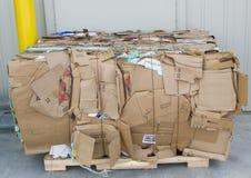 Bala de cajas de cartón foto de archivo libre de regalías
