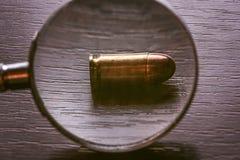 bala del calibre de 9m m para la pistola del beretta Fotografía de archivo