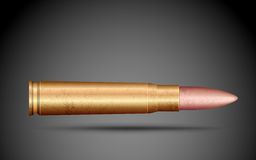 Bala do rifle ilustração royalty free