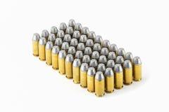 bala do semiwadcutter de 45 acp isolada em um fundo branco Fotografia de Stock