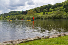 Bala Lake Wales. Bala Lake or Llyn Tegid in Welsh is a large lake in Gwynedd, Wales UK Europe Royalty Free Stock Image