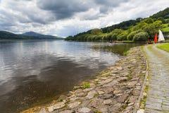 Bala Lake Wales. Bala Lake or Llyn Tegid in Welsh is a large lake in Gwynedd, Wales UK Europe Stock Photo