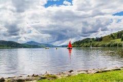 Bala Lake Wales. Bala Lake or Llyn Tegid in Welsh is a large lake in Gwynedd, Wales UK Europe Stock Photography