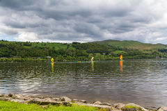 Bala Lake Wales. Bala Lake or Llyn Tegid in Welsh is a large lake in Gwynedd, Wales UK Europe Royalty Free Stock Images