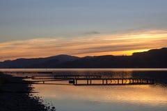 Bala Lake, Wales. Photo taken: Bala, north Wales. shows a sunset over Bala lake Stock Photography