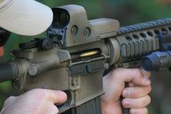 Bala na câmara do rifle Foto de Stock Royalty Free