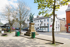 Bala North Wales. The high street square in Bala a market town in the county of Gwynedd Wales, with the statue of Thomas Edward Ellis a prominent Liberal Welsh Stock Photography