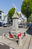 Bala North Wales. The high street war memorial in the rural Welsh town of Bala commemorating local men who gave their lives in both world wars Stock Photography