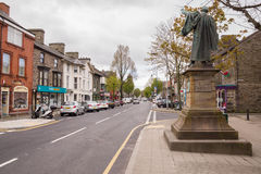 Bala North Wales. The Welsh town of Bala a market town in the county of Gwynedd, with the statue of Thomas Edward Ellis a prominent Liberal Welsh nationalist Stock Images
