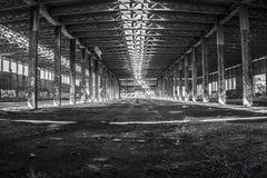 Balack en witte Hangaar Stock Fotografie