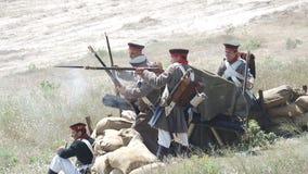 Balaclava battle reconstruction stock video footage