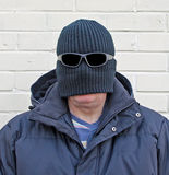 Balaclava disguise man Royalty Free Stock Photos