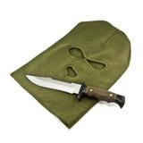 Balaclava e coltello immagini stock libere da diritti