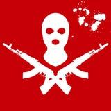 Balaclava et AK-47 croisé par deux Photo libre de droits